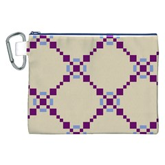 Pattern Background Vector Seamless Canvas Cosmetic Bag (xxl) by Nexatart