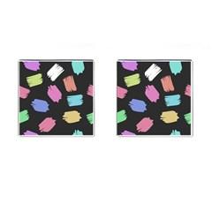 Many Colors Pattern Seamless Cufflinks (square) by Nexatart