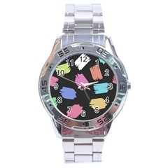 Many Colors Pattern Seamless Stainless Steel Analogue Watch