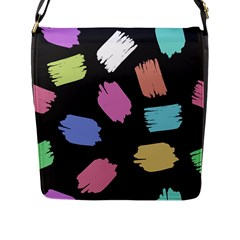 Many Colors Pattern Seamless Flap Messenger Bag (l)  by Nexatart