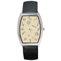 Pattern Culture Seamless American Barrel Style Metal Watch by Nexatart