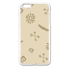 Pattern Culture Seamless American Apple Iphone 6 Plus/6s Plus Enamel White Case by Nexatart