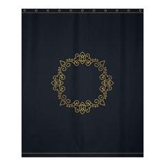Monogram Vector Logo Round Shower Curtain 60  X 72  (medium)  by Nexatart