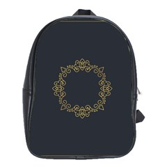 Monogram Vector Logo Round School Bags (xl)  by Nexatart