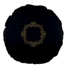 Monogram Vector Logo Round Large 18  Premium Flano Round Cushions by Nexatart