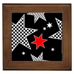 Stars Seamless Pattern Background Framed Tiles by Nexatart