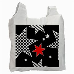 Stars Seamless Pattern Background Recycle Bag (one Side) by Nexatart