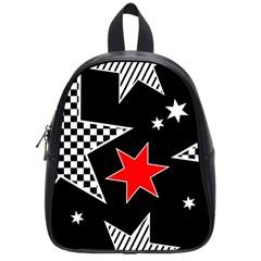 Stars Seamless Pattern Background School Bags (small)  by Nexatart