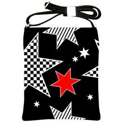 Stars Seamless Pattern Background Shoulder Sling Bags by Nexatart