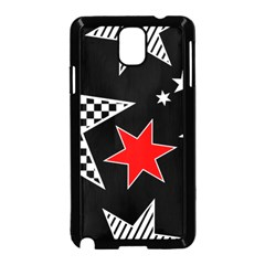 Stars Seamless Pattern Background Samsung Galaxy Note 3 Neo Hardshell Case (black) by Nexatart