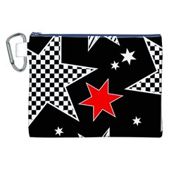 Stars Seamless Pattern Background Canvas Cosmetic Bag (xxl) by Nexatart