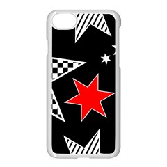 Stars Seamless Pattern Background Apple Iphone 7 Seamless Case (white) by Nexatart