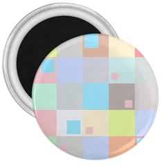 Pastel Diamonds Background 3  Magnets by Nexatart