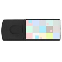 Pastel Diamonds Background Usb Flash Drive Rectangular (4 Gb) by Nexatart