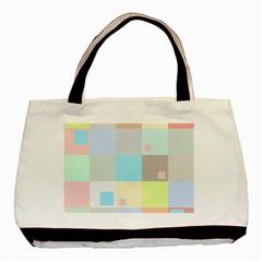 Pastel Diamonds Background Basic Tote Bag (two Sides) by Nexatart