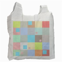 Pastel Diamonds Background Recycle Bag (one Side) by Nexatart