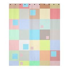Pastel Diamonds Background Shower Curtain 60  X 72  (medium)  by Nexatart