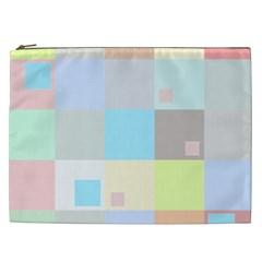 Pastel Diamonds Background Cosmetic Bag (xxl)  by Nexatart