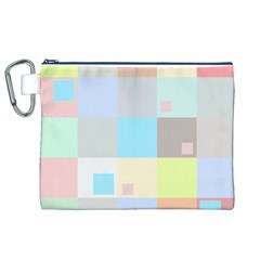 Pastel Diamonds Background Canvas Cosmetic Bag (xl) by Nexatart