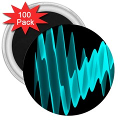 Wave Pattern Vector Design 3  Magnets (100 Pack) by Nexatart