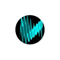 Wave Pattern Vector Design Golf Ball Marker by Nexatart