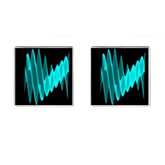 Wave Pattern Vector Design Cufflinks (square) by Nexatart