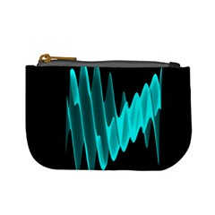 Wave Pattern Vector Design Mini Coin Purses by Nexatart