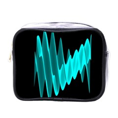 Wave Pattern Vector Design Mini Toiletries Bags by Nexatart