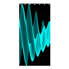 Wave Pattern Vector Design Shower Curtain 36  X 72  (stall)  by Nexatart