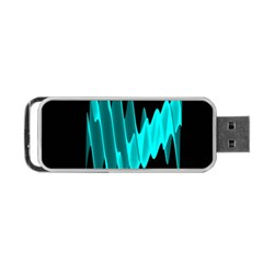 Wave Pattern Vector Design Portable Usb Flash (two Sides) by Nexatart