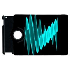 Wave Pattern Vector Design Apple Ipad 2 Flip 360 Case by Nexatart