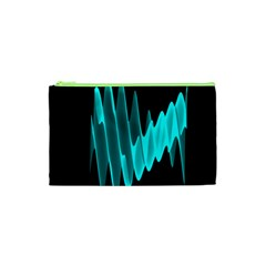 Wave Pattern Vector Design Cosmetic Bag (xs) by Nexatart