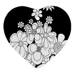 Mandala Calming Coloring Page Ornament (heart) by Nexatart