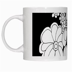 Mandala Calming Coloring Page White Mugs by Nexatart