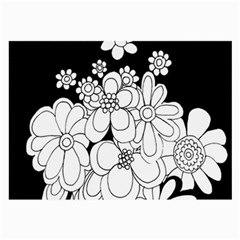 Mandala Calming Coloring Page Large Glasses Cloth (2 Side) by Nexatart
