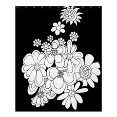Mandala Calming Coloring Page Shower Curtain 60  X 72  (medium)  by Nexatart