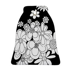 Mandala Calming Coloring Page Bell Ornament (two Sides) by Nexatart