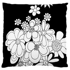 Mandala Calming Coloring Page Large Cushion Case (two Sides) by Nexatart