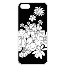 Mandala Calming Coloring Page Apple Iphone 5 Seamless Case (white) by Nexatart