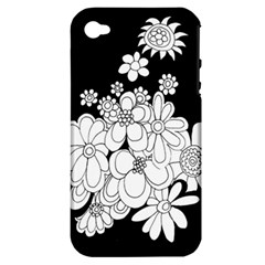 Mandala Calming Coloring Page Apple Iphone 4/4s Hardshell Case (pc+silicone) by Nexatart