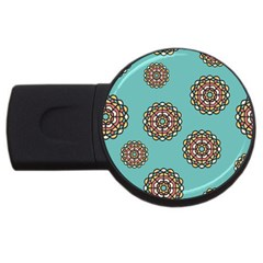 Circle Vector Background Abstract Usb Flash Drive Round (2 Gb) by Nexatart