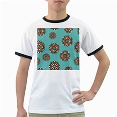 Circle Vector Background Abstract Ringer T Shirts