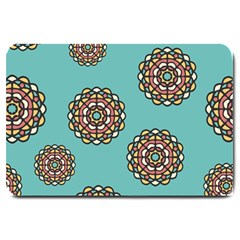 Circle Vector Background Abstract Large Doormat  by Nexatart