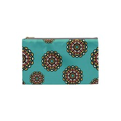 Circle Vector Background Abstract Cosmetic Bag (small)  by Nexatart
