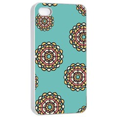 Circle Vector Background Abstract Apple Iphone 4/4s Seamless Case (white) by Nexatart