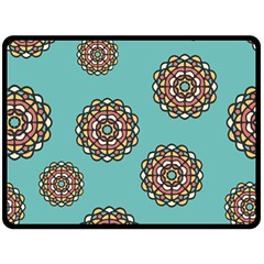 Circle Vector Background Abstract Double Sided Fleece Blanket (large)  by Nexatart