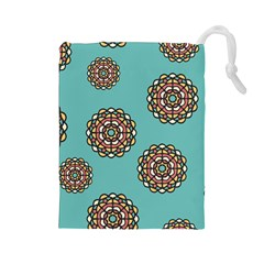 Circle Vector Background Abstract Drawstring Pouches (large)  by Nexatart