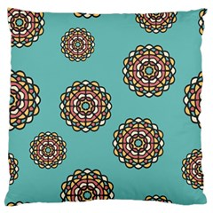 Circle Vector Background Abstract Large Flano Cushion Case (two Sides) by Nexatart