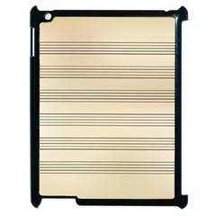 Notenblatt Paper Music Old Yellow Apple Ipad 2 Case (black) by Nexatart