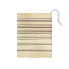 Notenblatt Paper Music Old Yellow Drawstring Pouches (medium)  by Nexatart